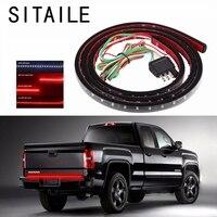 SITAILE Flexible Car LED Light Signal Lamp Strip Tailgate Bar Backup Reverse Brake Tail Turn Signal
