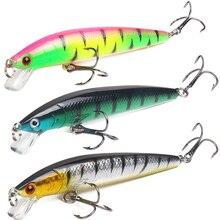 10 color/set 10cm /7.5g Hard Bait Fishing Lure 3D Eyes Lake Artificial Minnow Wobble Jerkbait Crankbait Depth 2m Cheap Wholesale