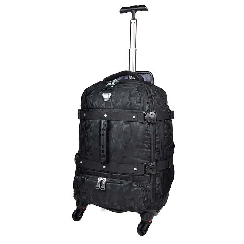 LeTrend Ad Alta capacità Camouflage Borse Da Viaggio A Tracolla Multifunzione Valigia Ruote Trolley Spinner Trolley borsa del computer portatile