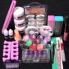 Pro 1set Acrylic Nail Art Tips Powder Liquid Brush Glitter Clipper Primer File Set Kit Acrylic