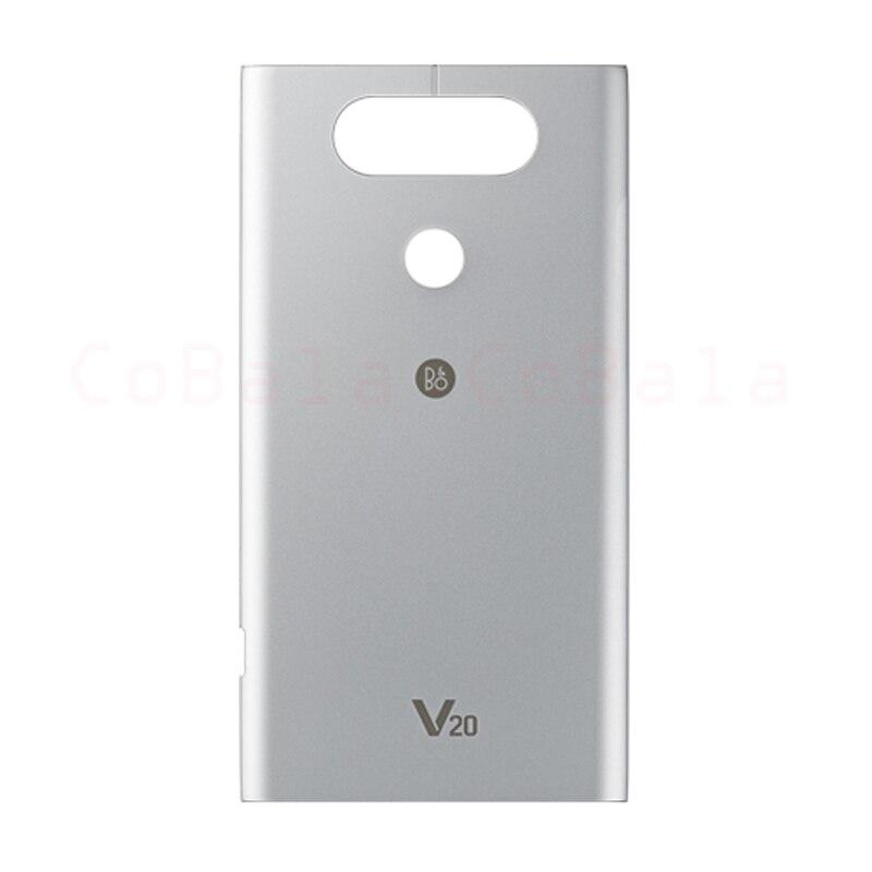 imágenes para 1 unids gris plata rosa para lg v20 h990 h910 h918 ls997 us996 vs995 volver cubierta de la batería puerta trasera panel lovain vivienda case