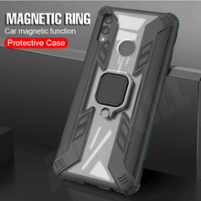 Armor Case For huawei y7 2019 case Magnetic Finger Ring Protective Hard Shockproof phone cover Huawei Y7