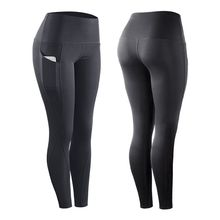 Women High Elastic Leggings Pants  With Pocket Fitness Sport Compression Slim Plus Size