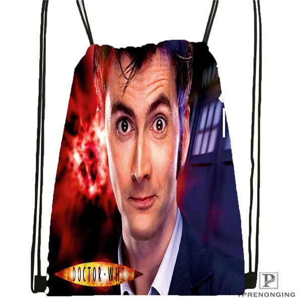Custom David Tennant Drawstring Backpack Bag Cute Daypack Kids Satchel Black Back 31x40cm 20180611 02 65