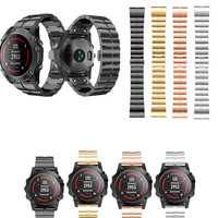 ASHEI 26mm New Watchbands For Garmin Fenix 5x Band Watch Strap Easy Fit Stainless Steel Bracelet