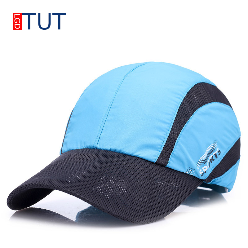New Summer Sport Mesh Baseball Cap Quick-drying Cap For Men Women Outdoor Sun Quick Dry Breathable Hats Adjustable Caps LGDTUT