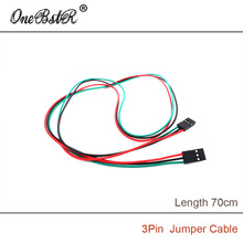 10Pcs/lot 3D Printer Parts 70cm 3Pin Female-Female Jumper Cable DuPont line A rduino Boards Modules Large Favorably
