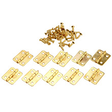 10Pcs 18x16mm Kitchen Cabinet Door Hinges Furniture Fittings 4 Holes Gold Drawer Hinges for Jewelry Boxes Furniture Accessories цена