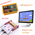 Subor Classic Cassette Game Machine D99 +198 IN 1 Nostalgia Original Family Video TV Game Console Player With 2 gamepad jeux