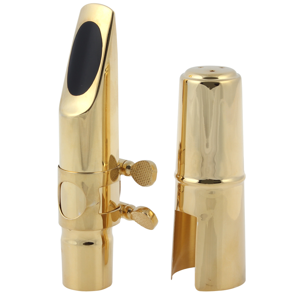 SLADE Metal Tenor Saxophone Mouthpiece 8 with 2 Mouthpiece Pads Suitable for Jazz Music selmer professional tenor silver plated b saxophone mouthpiece metal tenor sax mouthpiece size 5 9 boquilha jazz music