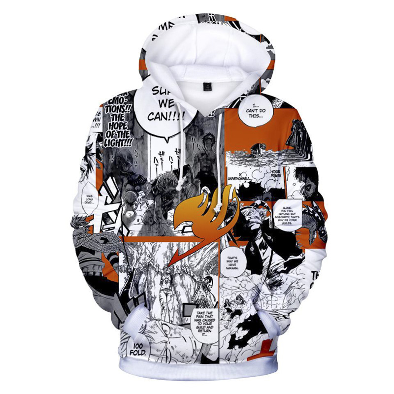 Fairy Tail Hoodies Men Women Anime Hoodie 3d Print Sweatshirts Hooded Pullover Pocket Jumpers Boys Girls Tops Drop Shipping in Hoodies amp Sweatshirts from Men 39 s Clothing