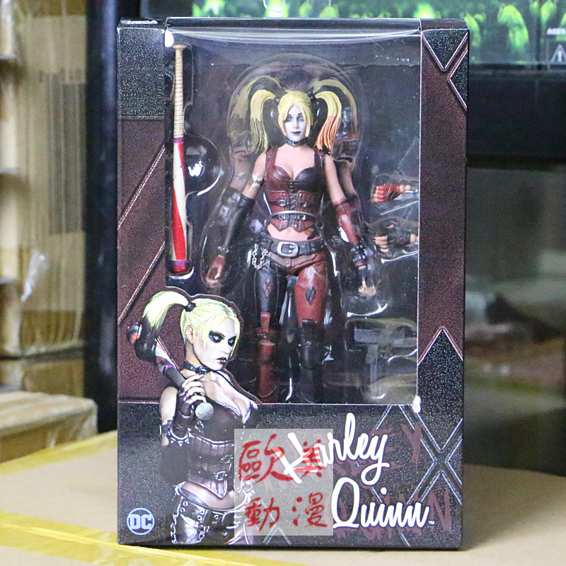 Children toy ugly DC Batman model limited edition Arkham City 7 inch DC Clown Haley Quinn puppet Action Figure