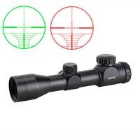 SPINA OPTICS Riflescope Optics Sight 4x32EG Hunting Rifle Scope Illuminated Rangefinder Scopes with Picatiny or Weaver Mounts