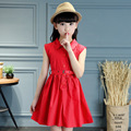6-16 Years New Baby Girl Dress Clothes  Girls Belt Dress Summer 2016 Costume Casual Clothes