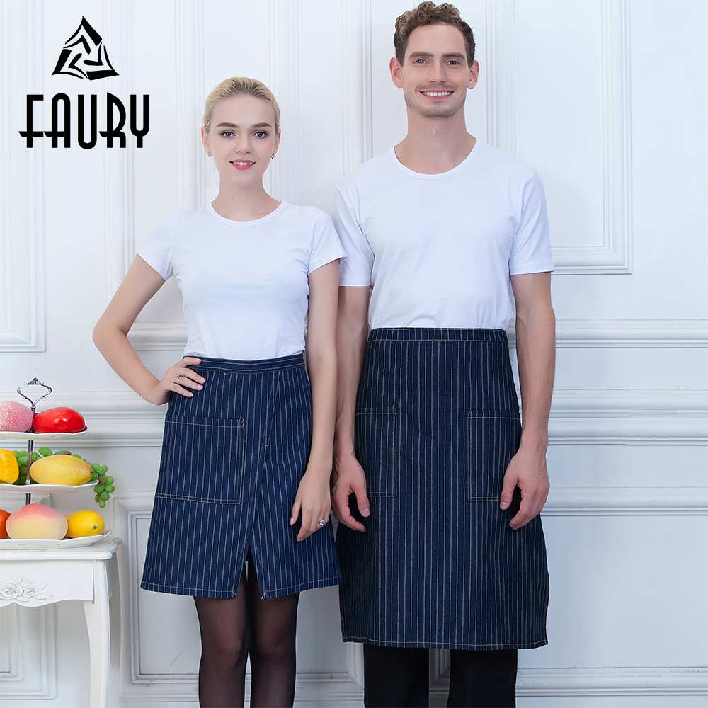 Wholesale Food Service Kitchen Cooking Chef Half Apron Restaurant Cafe Catering Baker Waiter Waitress Couple Work Wear Uniform