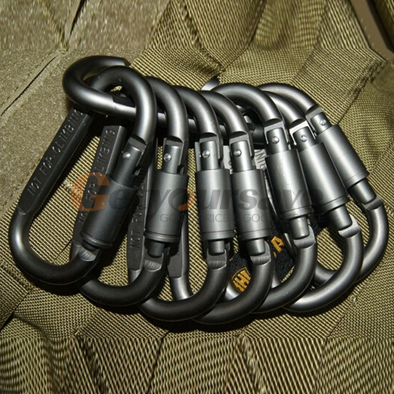 Aluminum Carabiner Hunting Equipment Survival Kit Lock Tool 1