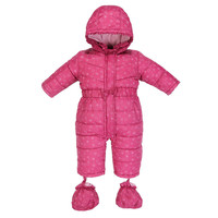 Warm Autumn Winter Cotton Coat Baby Romper Long Sleeve Coverall Hooded Infant Jumpsuit With One Piece