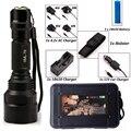 LED CREE XM-L2/T6 Фонарик 8000 люмен Фонарик высокой мощности Тактический Фонарик Свет Лампы + Зарядное Устройство + 1*18650 + Кобура