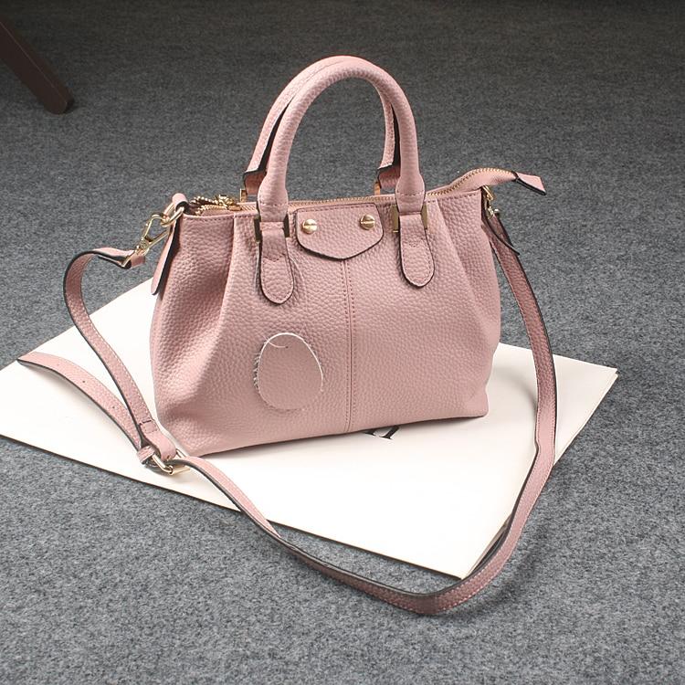 ФОТО 8Colors Big Sale Free Shipping Simply Classic Fashion 100% Genuine Leather Women Handbag Ladies Tote Messenger Bag Purse Satchel