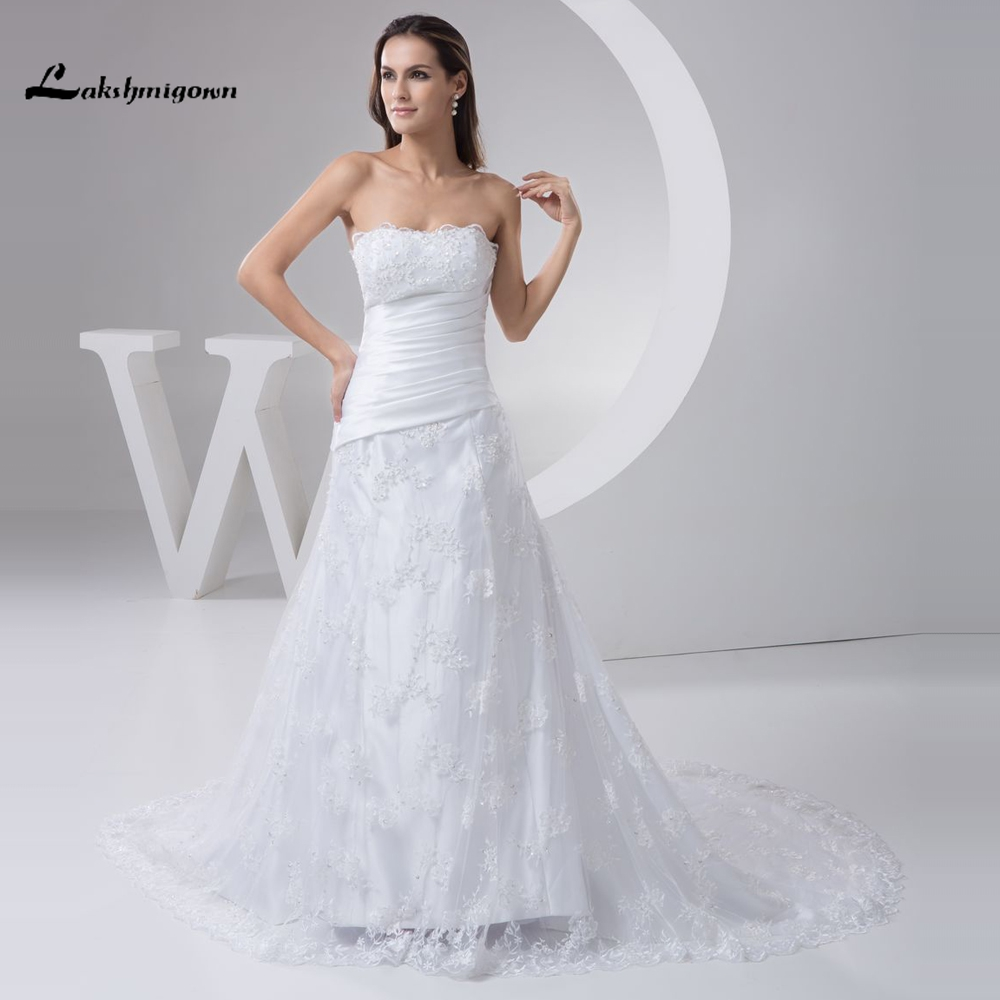 2017 Charming Lace font b Wedding b font font b Dress b font White Ivory font