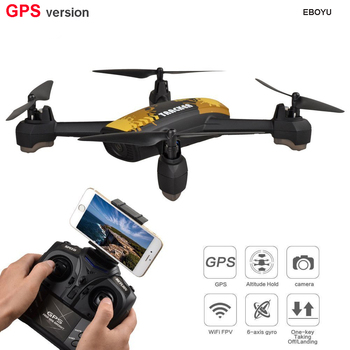 JXD 518 GPS Drone 2.4G 4CH 720P HD Camera Wifi FPV GPS Mining Point Altitude Hold RC Quadcopter Drone RTF