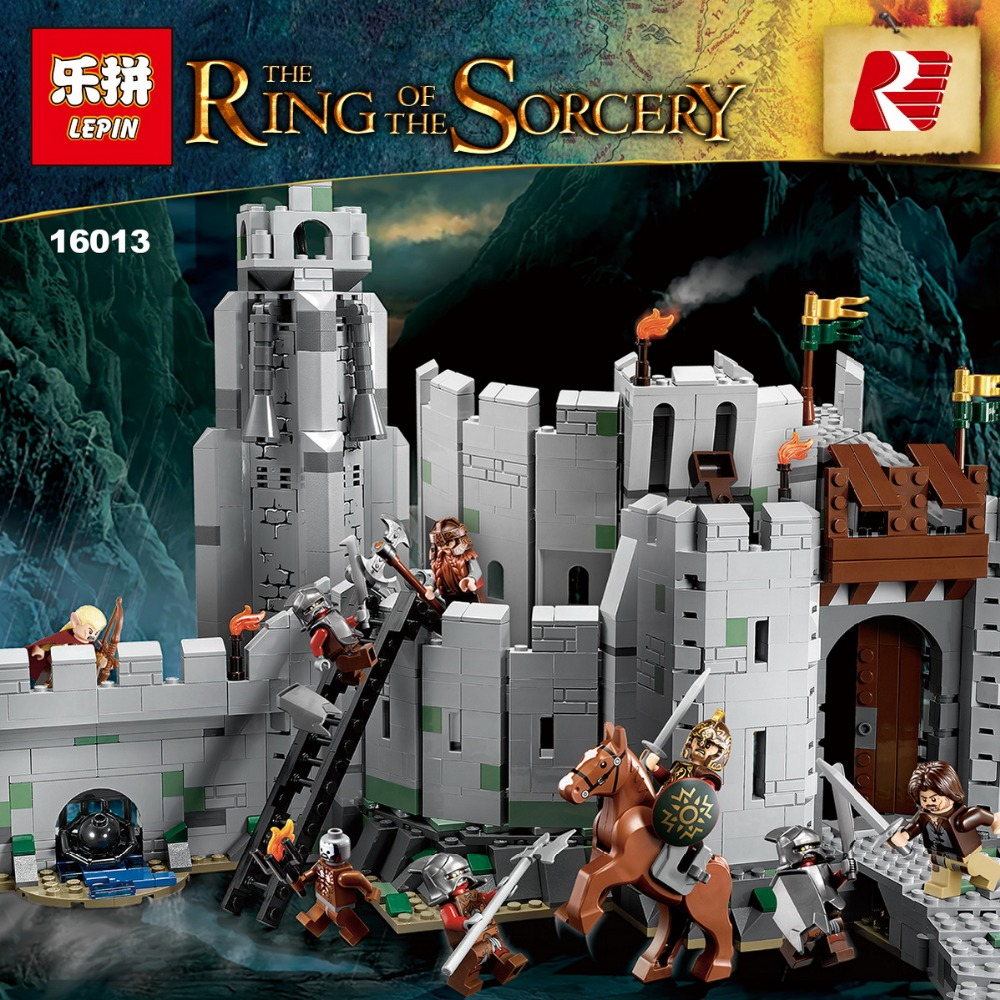 IN STOCK 2017 New Lepin 16013 1368Pcs The Lord of the Rings Series The Battle Of Helm' Deep Model Building Blocks Bricks Toys concept driven 2sc0435t 2sc0435t2a0 17 new stock