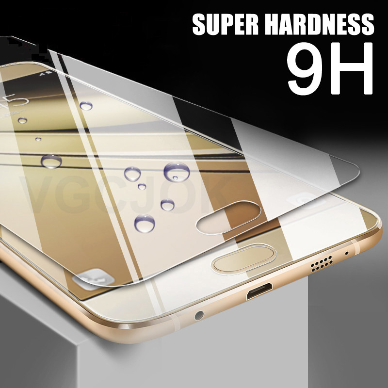 0.28mm 9h Tempered Glass On The For Samsung Galaxy A3 A5 A7 2017 2016 2015 A6 A8 Plus 2018 Screen Protector Protective Film Case
