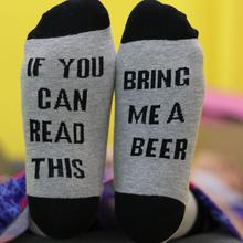 Fashion hot sale Bring Me A Bear Women Ladies Soft Letters Printed Warm Hosiery Funny printed casual Socks Grey