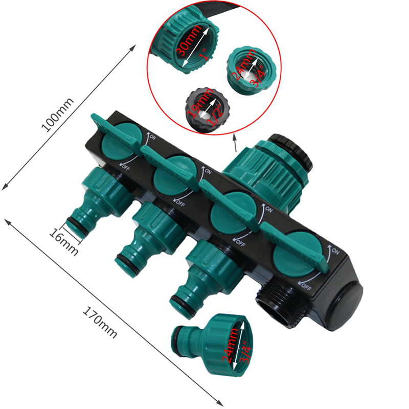 "HTB1C2f9dSBYBeNjy0Feq6znmFXap 1/2""-3/4""-1"" Hose Splitters Irrigation Adapter 4-way Water Hose Connectors European standard Female Thread Tap Connectors 1 Pc"