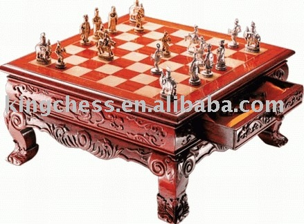 Brazilian Rosewood Chess Tables