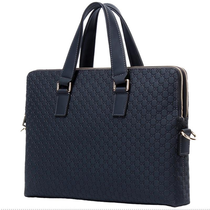 TOP POWER Men Bag Fashion Brand Genuine Leather Men 14inch Laptop Bag Casual Men s Business
