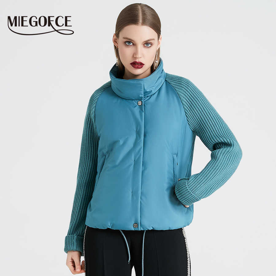f9fe29a86 MIEGOFCE 2019 Short Women's Coat And Thin Cotton Padded Jacket Spring  Women's Jacket Stylish With Collar New Spring Collection