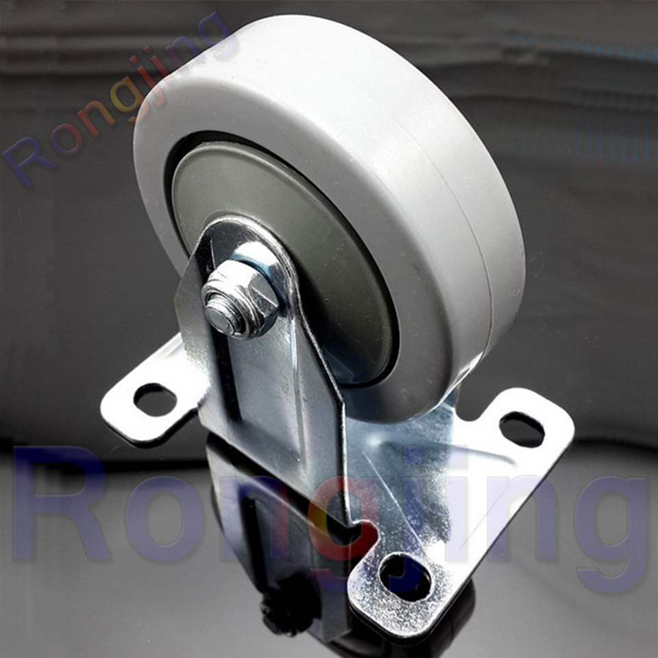 New 2.5'' Furniture Fixed Caster Wear-resisting Durable PVC Palted Sofa Castor Type Chair Fast Pulley