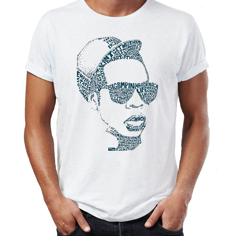 Jay Z Mr CArterer Lyrics Arterist Silhouette Icon Magna CArtera Mens Unisex T Shirt Man Fashion Round Collar T-Shirt Top Tee image