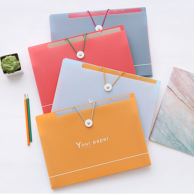 New Arrive Portable Accordion File Folder A4 Business File Organizer Expand File Folder With Label Classify Home Office Storage