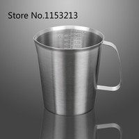Thickening 304 Stainless Steel Measuring Cup 1500ml Milk Tea Cup Coffee Liquid Measuring Cup With Graduated