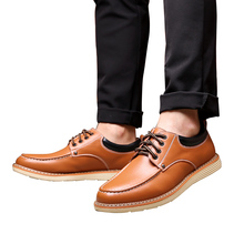 Mens Shoes Oxfords 2019 New Business Formal Lace-up Shoes Breathable Leather Casual Solid Fashion Flat Pointed Male Shoes цена и фото