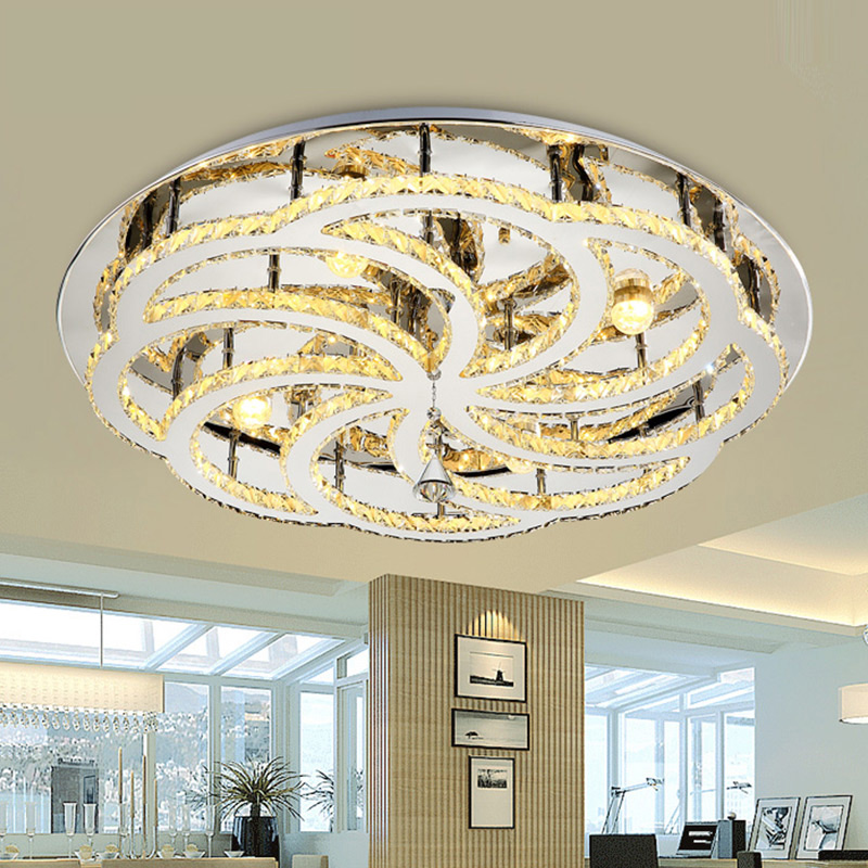 Aliexpress Buy Modern Crystal Led Ceiling Lights Lampen Kristal For Living Bedroom Dinning Room Light Luminaire Deckenleuchten Plafond Lamps From
