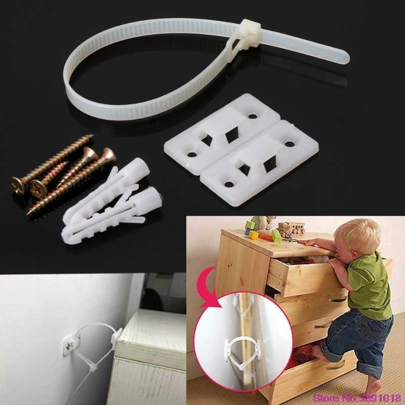 Correias antiponta da segurança do bebê para a proteção lisa do fechamento da correia da parede da tevê e da mobília