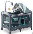 Valdera multifuncional cama de bebé plegable portable de la manera juego de cama bb cama de bebé cama niño recién nacido