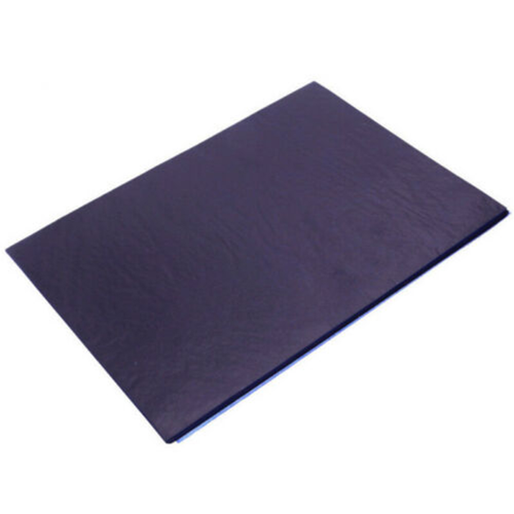 New 100 Sheets A4 Dark Blue Carbon Hand Stencil Transfer Paper Hectograph Repro Set 25.5*18.5cm