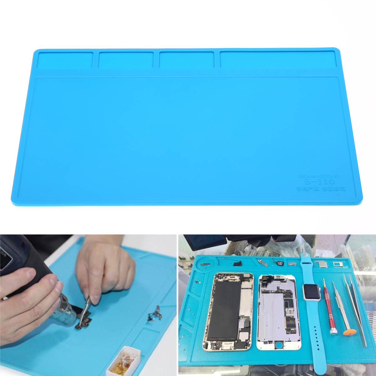 1pcs New Soldering Station Repair Desk Maintenance Platform Heat Insulation Silicone Working Pad Mat