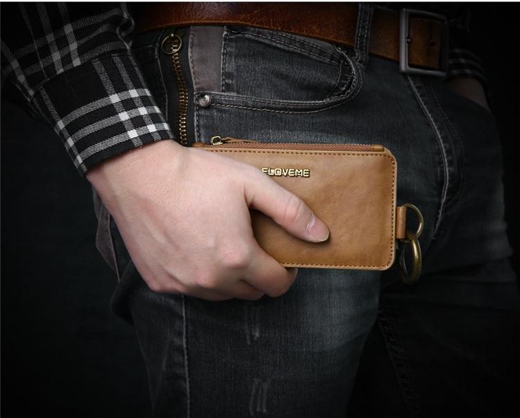 HTB1C2gOr3mTBuNjy1Xbq6yMrVXap FLOVEME Luxury Retro Wallet Phone Case For iPhone 7 7 Plus XS MAX XR Leather Handbag Bag Cover for iPhone X 7 8 6s 5S Case shell