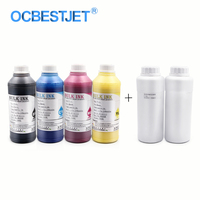 500ML 6 Bottles Digital Dtg Textile Ink For Epson T50 1400 1430 1410 R270 R290 1500W L1800 (BK+C+M+Y+White+Pretreatment Liquid)