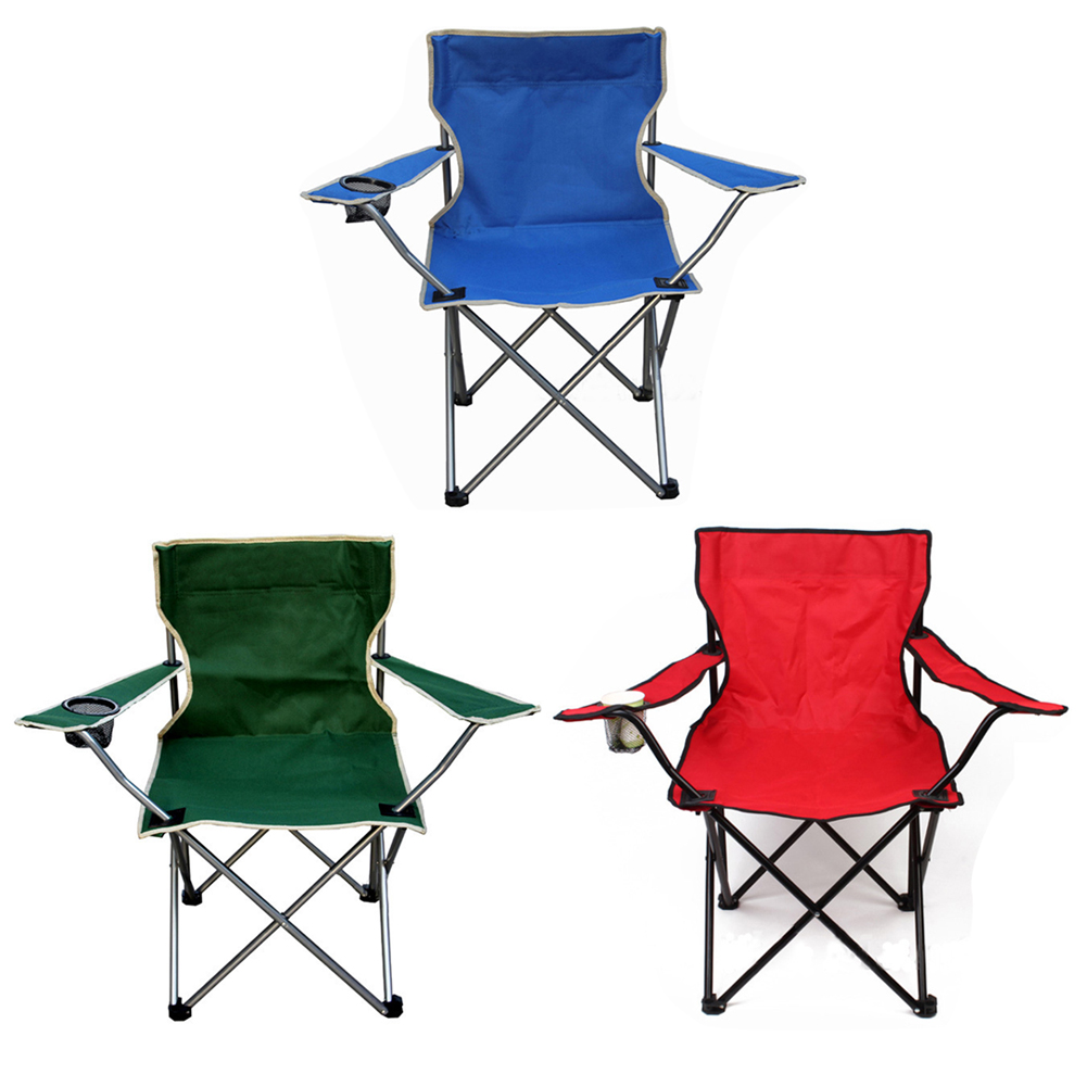 Portable Folding Camping Chair Fishing Chair Oxford Cloth Lightweight Seat for Outdoor Picnic BBQ Beach Colorful Chairs