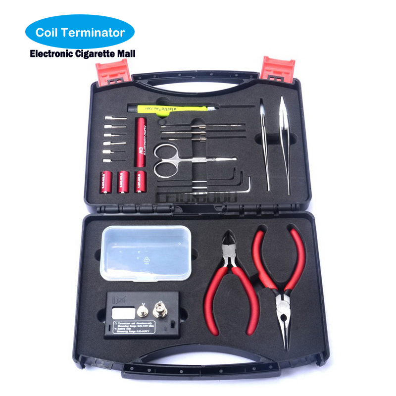 Electronic cigarette Coil Terminator Tool Kit accessories Ohmmeter DIY Kit For RDA RBA RTA RDTA Atomizer usefull tool for e cig eleaf coral rda atomizer for diy