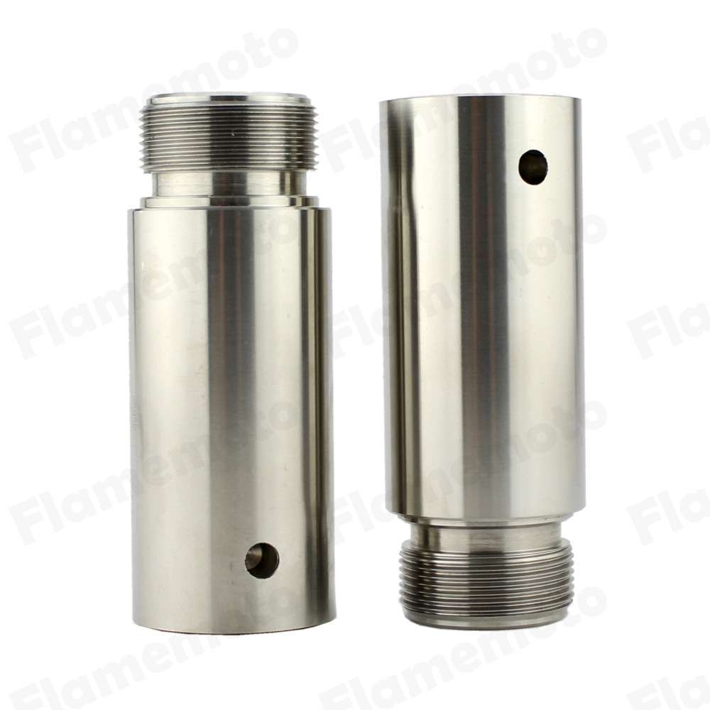 Motorcycle 39mm Stainless Fork Tube 3in Extensions For Harley Dyna Glide Sportster XL 1200 883