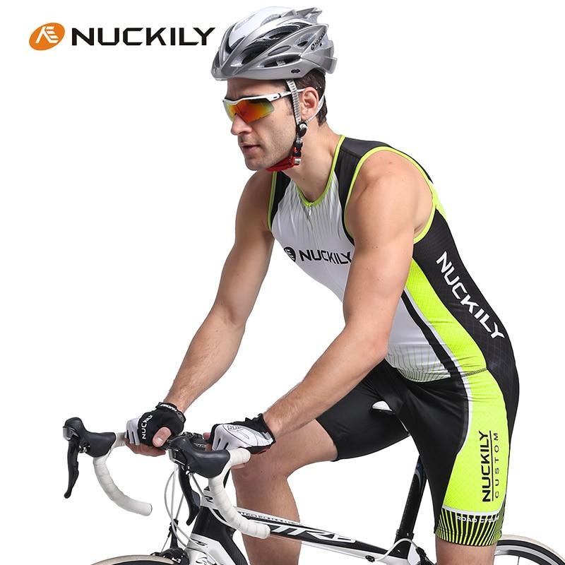 NUCKILY 2016 Triathlon Mtb Cycling Sleeveless Jumpsuit Breathable Vest One piece font b suit b font