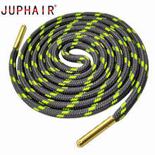 JUPHAIR Metal Head Athletic Sports Round Shoelaces Fit All Sport Running Shoes Shoe Laces Wave Point Striped Polyester