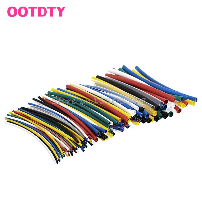 140Pcs Assorted 2:1 Heat Shrink Tubing Sleeving Wrap Electrical Wire Cable Kit #G205M# Best Quality 6m 20ft long 12mm wire spiral wrap wrapping sleeving band cable black white x 2
